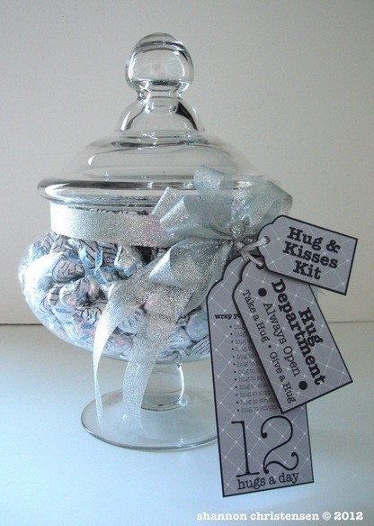 DIY Craft Hugs & Kisses Kit Glass Jar