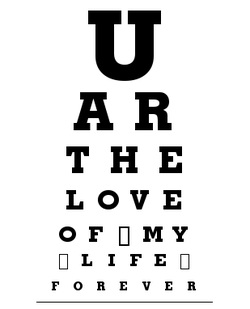 Eye chart art shannonsstudio.com