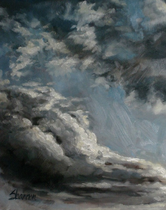 oil painting clouds shannon christensen