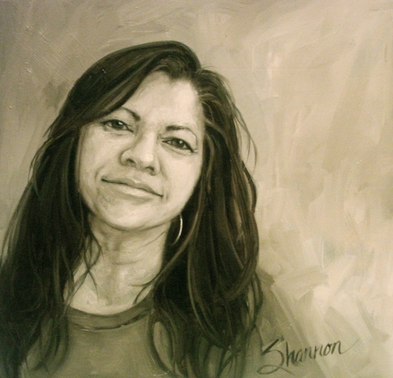 oil painting of shannon christensen by shannon christensen