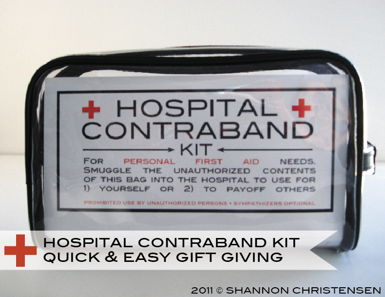 hospital contraband kit shannonsstudio.com