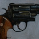 oil painting .44 mag handgun