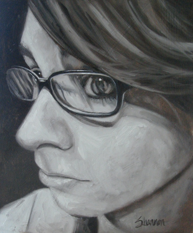 Oil painting of Sam by Shannon Christensen