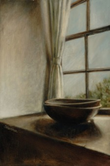 carthage bowls by a window sill