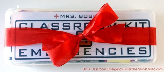 ShannonsStudio.com Classroom Emergency Kit Gift