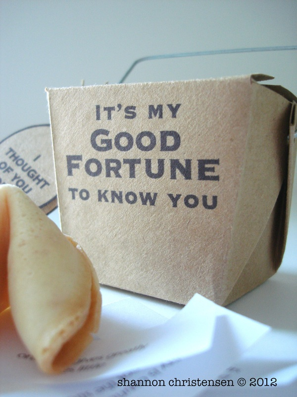 Photo of Fortune cookie box, fortunes, and fortune cookie day by shannon christensen