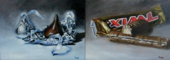 candy bar paintings