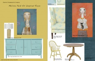 Style board for Melissa Peck's artwork