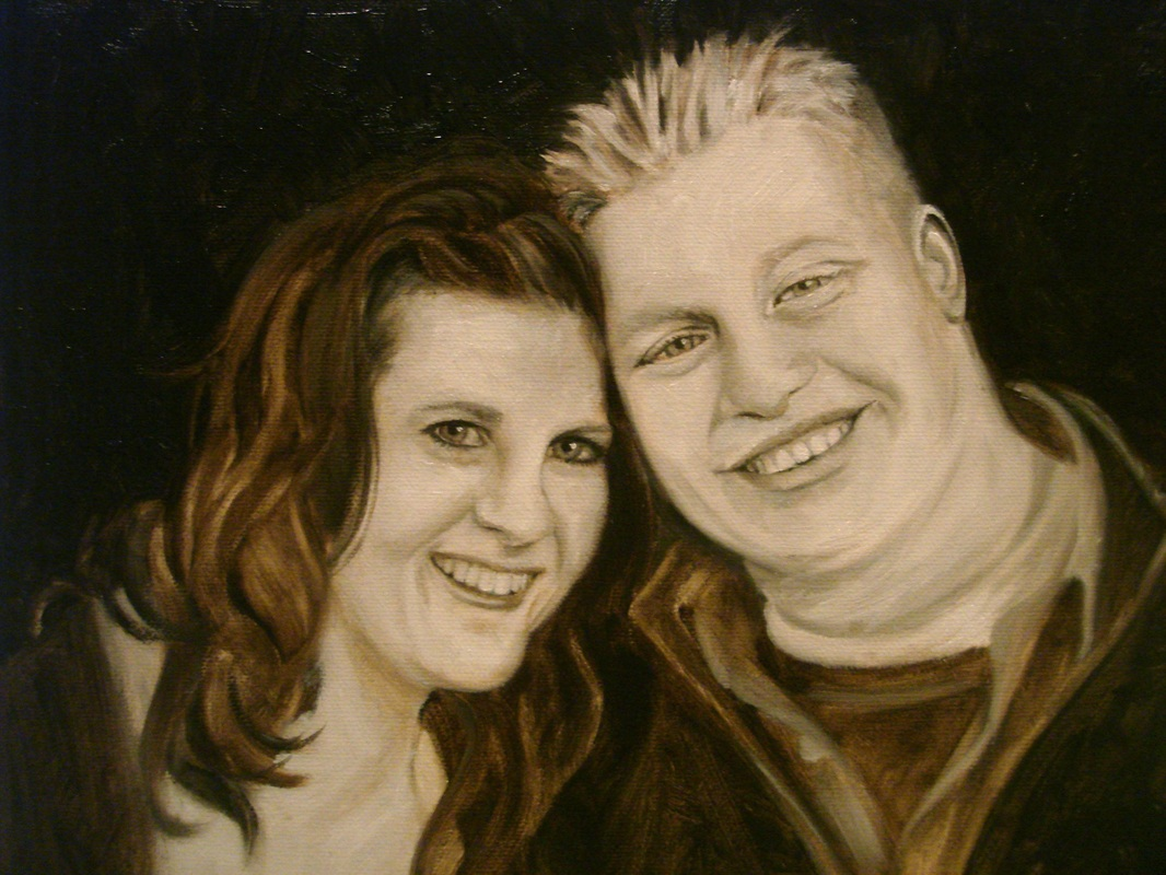 oil painting couple by shannon christensen