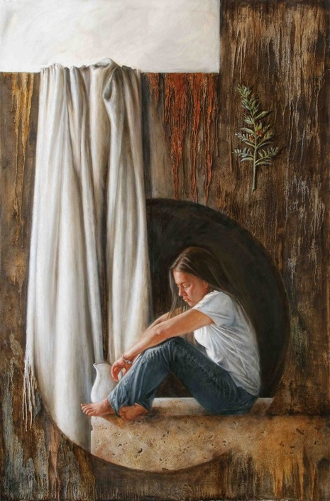 shannon christensen painting of young woman in need of hope