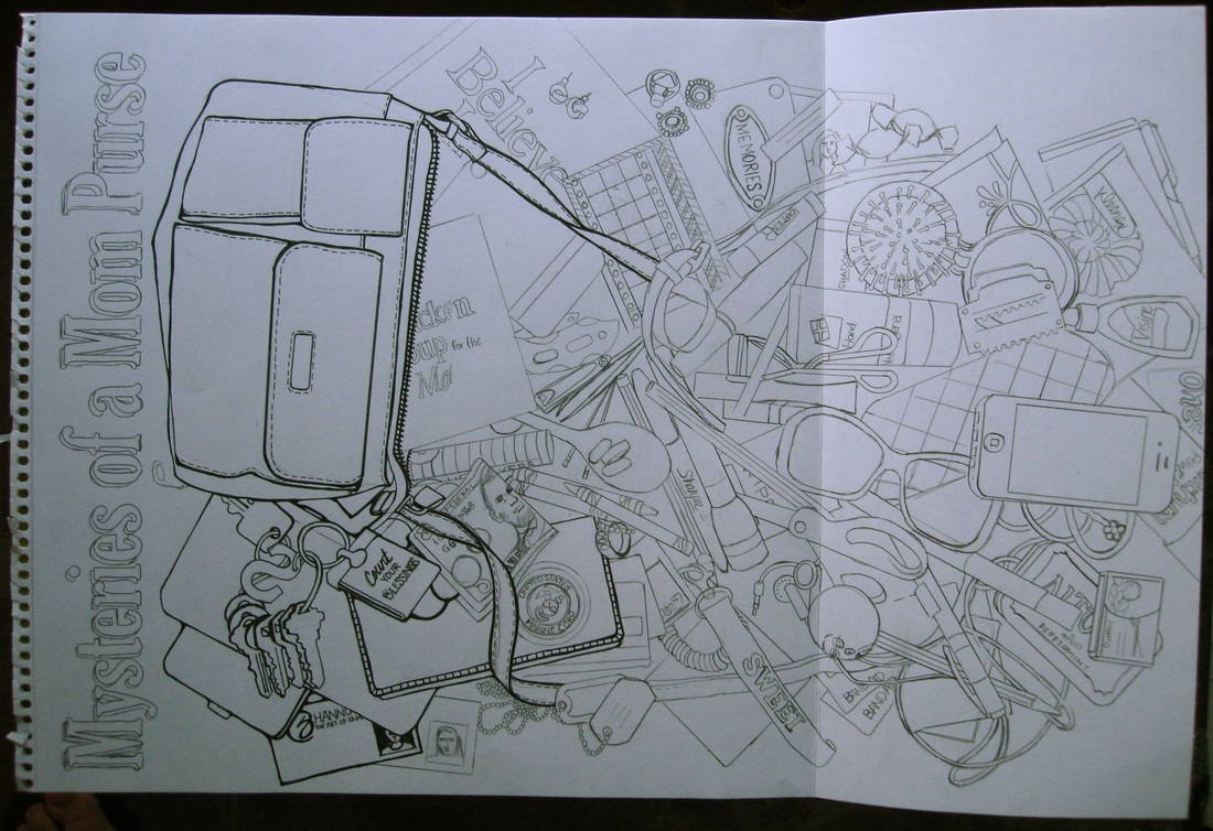 Line Drawing Secret Book by Shannon Christensen