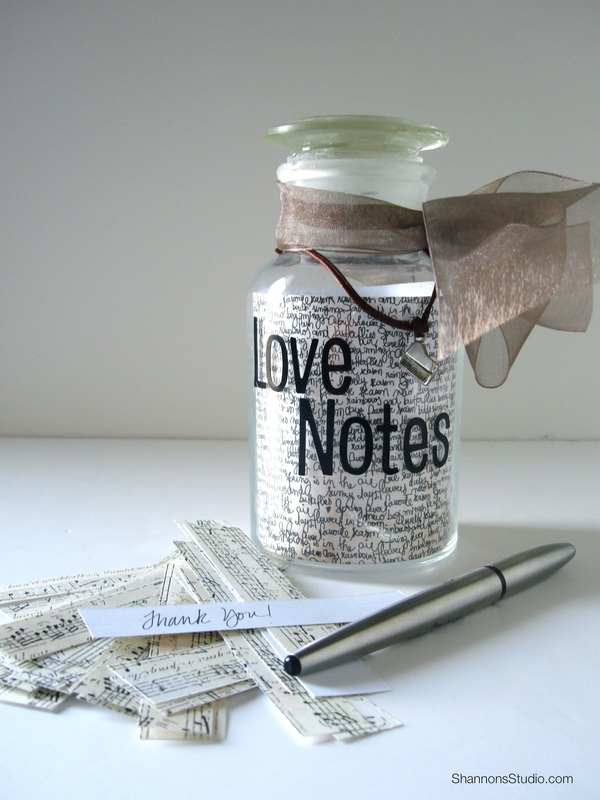 DIY Thank you gift, Love Notes, Shannon Christensen