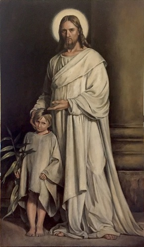 Shannon Christensen copy of Carl Bloch's painting Christ and Child
