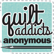 Stephanie Sobbing Quilt Addicts Anonymous Logo