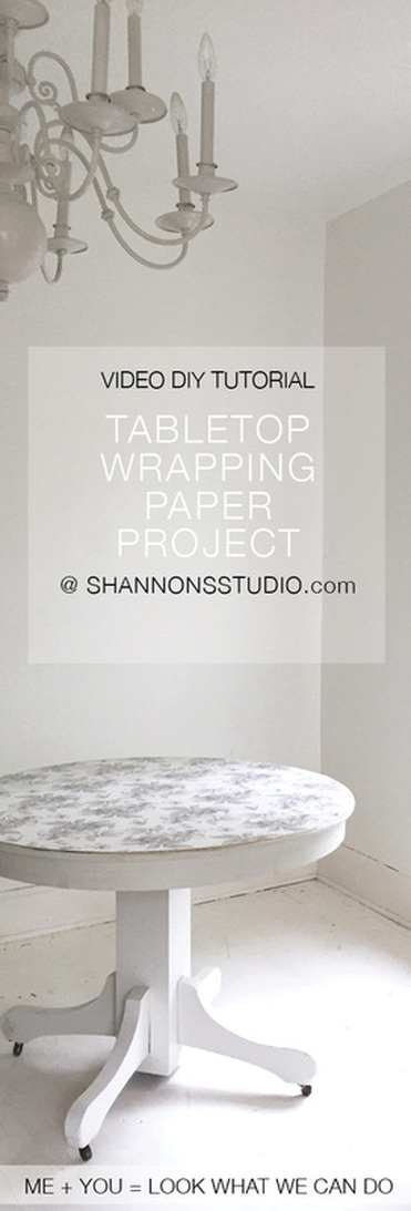 Photo Shannon Christensen DIY Gift Wrap Tabletop Project @ Shannon's Studio Exclusive Wrapping Paper