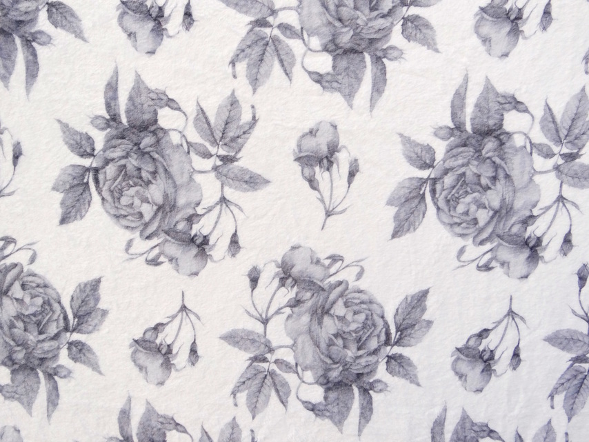 Shannon's Studio Rose Floral Fleece Blanket Exclusive Surface Pattern Designed by Shannon Christensen