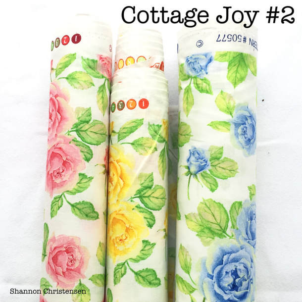 Shannon Christensen's Cottage Joy Fabric Collection Rosy