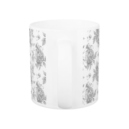 Floral Mug Grey • Be Our Guest Collection • Exclusive Design • Shannon Christensen